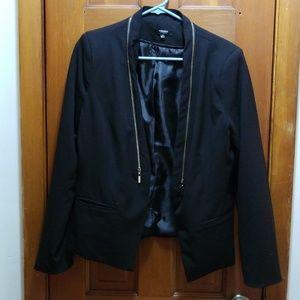 Zipper detailed blazer